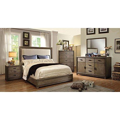 24/7 Shop at Home 247SHOPATHOME IDF-7615CK-6PC Bedroom Set, California King, Oak