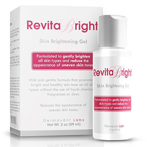 RevitaBright - Natural Skin Lightening Gel for Sensitive Skin | Lighten and Brighten Freckles – Even Out Complexion – Get Rid of Dark Spots & Age Spots | For Face & Body | Hydroquinone Free (2oz)