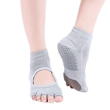 WJSWKZ Calcetines de Yoga Calcetines de Yoga Antideslizantes ...