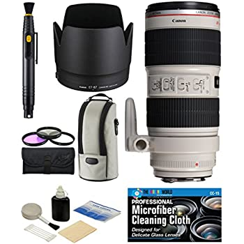 Xtech Large Soft Neoprene Lens Pouch for Canon EF 75-300mm f//4-5.6 III Lens Canon EF 70-200mm f//2.8L IS II USM Lens Canon EF 70-300mm f//4-5.6 IS USM Lens And All Large Lenses up-to 6.3 Inches