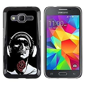 - Skull Tattoo Partterned - - Monedero pared Design Premium cuero del tir¨®n magn¨¦tico delgado del caso de la cubierta pata de ca FOR Samsung Galaxy Core Prime G360 G3608 G3606 Funny House