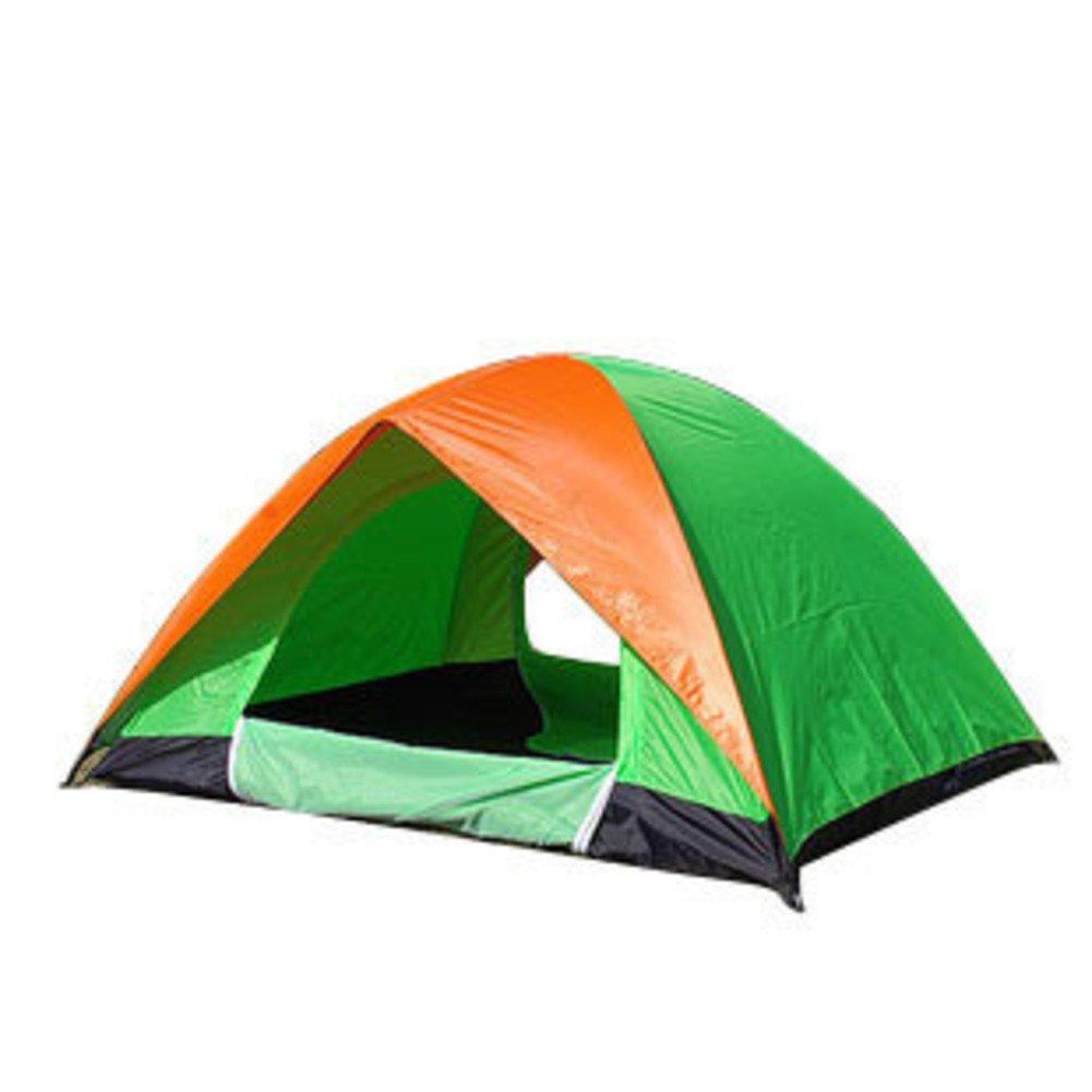 Fptcustom Outdoor-doppelte Campingzelt, Uv-Schutz Wasserdicht Angelausflug Strand Zelt 2-3 Personen