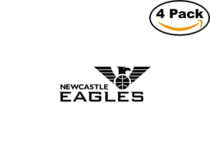 Basketball newcastle eagles logo 4 stickers 4x4 inches car bumper window sticker decal