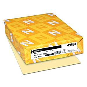 Neenah Paper 49581 Exact Index Card Stock, 110lb, 8 1/2 x 11, Ivory, 250 Sheets