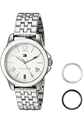 Tommy Hilfiger Women's Quartz Stainless Steel Casual Watch, Color:Silver-Toned (Model: 1781678)