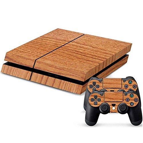 mod-freakz-console-and-controller-vinyl-skin-set-oak-wood-grain-for-playstation-4