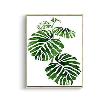 Vert Tropical Plante Feuilles Toile Art Poster Décoration Murale Nature Tableau  Moderne Design Impressions Sur Toile
