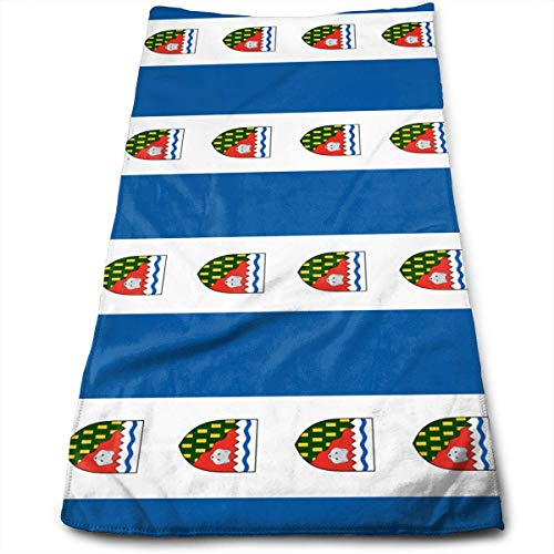 Northwest Territories Canada Flag Yoga and Out Door Microfiber Ribbed Cotton Hand Towels Washcloth Towels 12