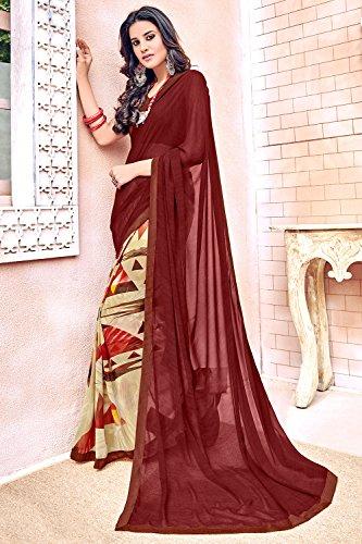 Da Facioun Indian Sarees For Women Wedding Designer Party Wear Traditional Sari. Da Facioun Saris Indiens Pour Les Femmes Portent Partie Concepteur De Mariage Sari Traditionnel. Maroon 14 Maroon 14