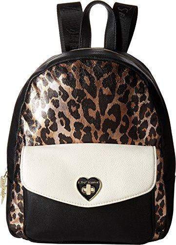 Betsey Johnson Women's Turnlock Backpack Cheetah One Size [並行輸入品]   B07JZSG2F8