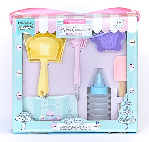 Handstand Kitchen 18-piece Real Cupcake Baking Set with Recipes for -