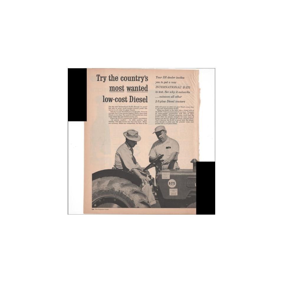 International Harvester Tractors B 275 2 Pg 1960 Farm Antique Advertisement  Prints