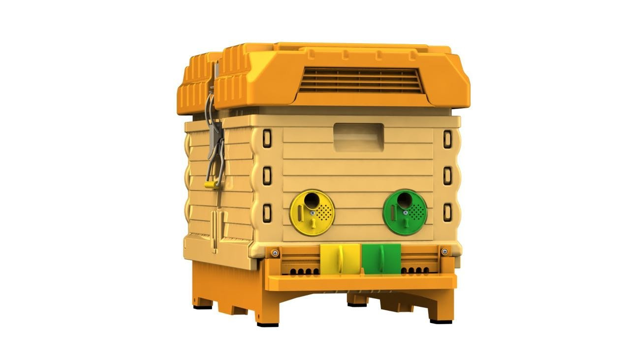 Apimaye Insulated 7 Frame Langstroth Nucleus Bee Hive Nuc