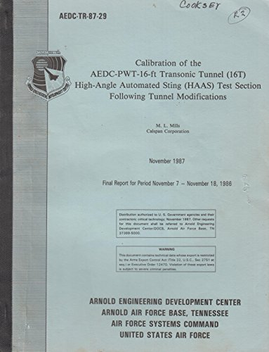 Calibration of the AEDC-PWT-16-ft Transonic Tunnel for sale  Delivered anywhere in USA
