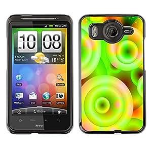 TopCaseStore / la caja del caucho duro de la cubierta de protección de la piel - Neon Colors Wallpaper Circle Universe Spiral - HTC G10
