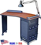 Dina Meri 390 Boomerang Manicure Table Cherry Top