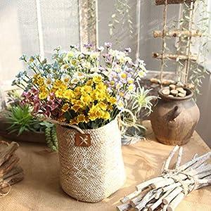 """YJBear 16.5"""" DIY Artificial Silk Little Daisy Flower Arrangement 20 Pcs Fake Flower Bouquet for Indoor Outdoor Wedding Home Office Decoration 7"""