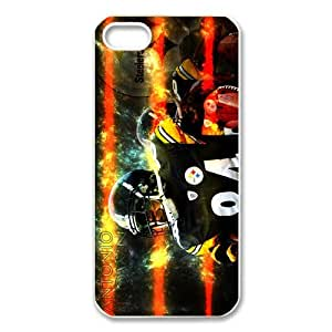 Custom Antonio Brown Hard Back Cover Case for iPhone 5,5S TPU (Laser Technology)