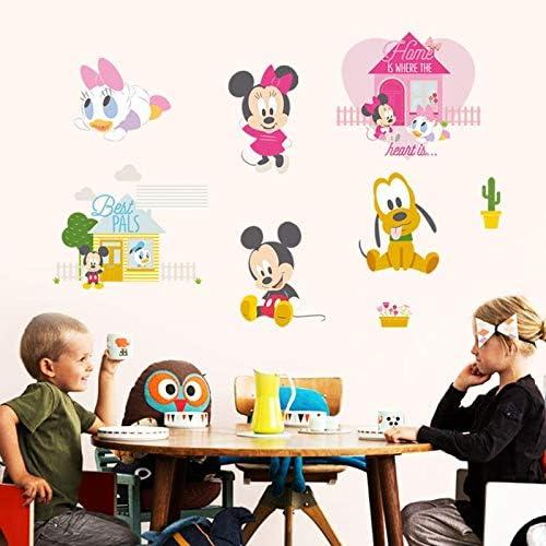 Kibi Stickers Muraux Mickey Stickers Muraux Minnie et Mickey Stickers Muraux Enfants Mickey Stickers Muraux Chambre B/éb/é Autocollants Mickey Mouse Autocollants Enfants Mickey