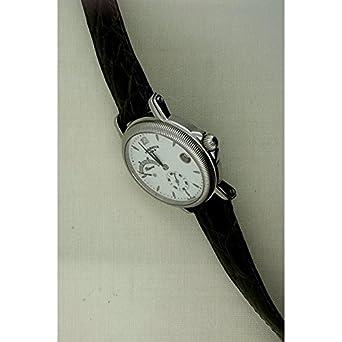 Uhr Agir Watch Herren 3167 mechanisch Stahl Quandrante weiß Armband Leder