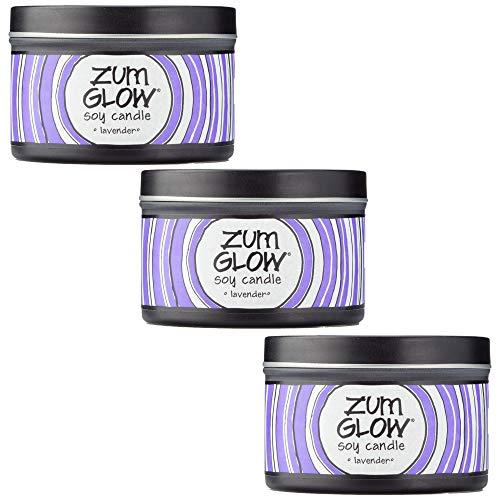 Indigo Wild Lavender Zum Glow Soy Candles, 7oz. - 3 Pack
