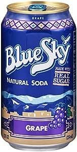 amazon com blue sky natural soda grape 12 ounce cans