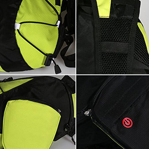 Amazon.com : Dyytrm Cycling Backpack Reflective Bicycle Backpack Wireless Remote Warning Light LED Signal Light Backpack Jogging Bicycle Camping Walking 5L ...