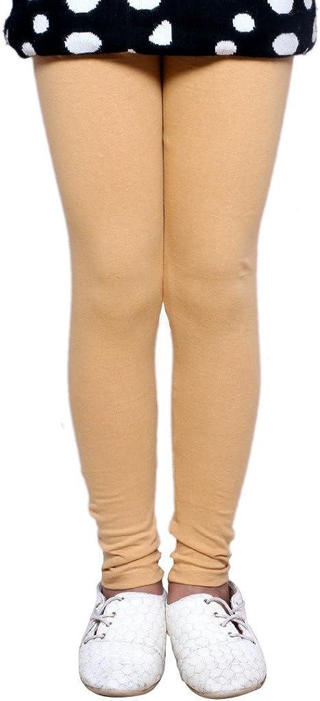 8-9 Years Green::Beige::Maroon Indistar Big Girls Super Soft Cotton Leggings Set Of -3