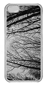 Customized iphone 5C PC Transparent Case - Trees 4 Personalized Cover