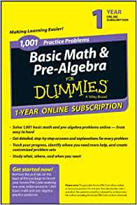 1001 basic math and pre-algebra practice problems for dummies pdf