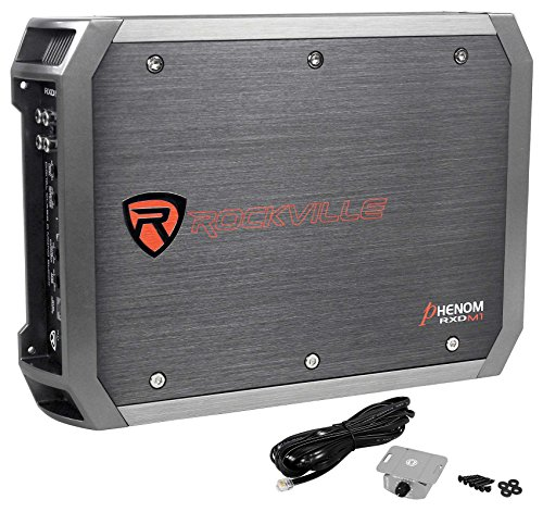 Rockville 1000w Mono Amplifier For 1) Rockford Fosgate P3-1X10 10'' Subwoofer+Box by Rockville