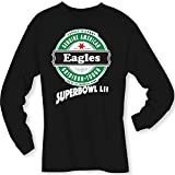 4u4design Football- Long Sleeve Eagles (Super Bowl LII) Angled Type Beer Shirt - Sizes up to 6XL