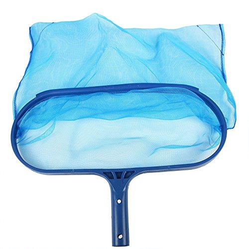 Rongbo Heavy Duty Deep-Bag Pool Rake & Swimming Leaf Skimmer Net with Medium Fine Mesh,Fits Most Standard Pole for Cleaning Swimming Pools,Hot Tubs,Spas and Fountains (deep-Bag rake)