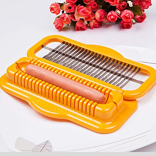 YOSA Hot dog Cutter Sausage Peeler Salad Tool Ham Slicer Banana Cutter Kitchen Tool (Dog Slicer compare prices)