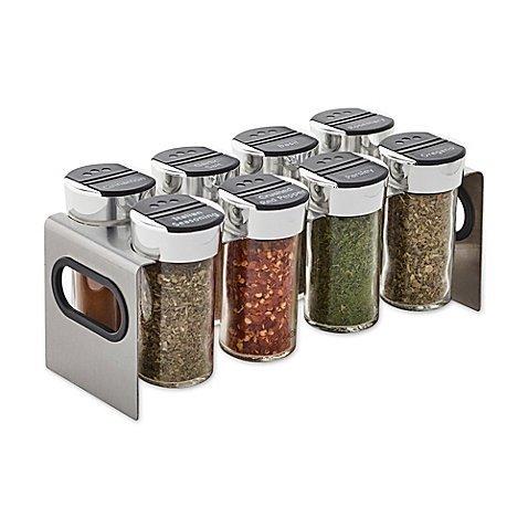 Kamenstein Stainless Steel 8-Jar Spice Rack, 3 oz. capacity (jars) by Kamenstein (Image #1)