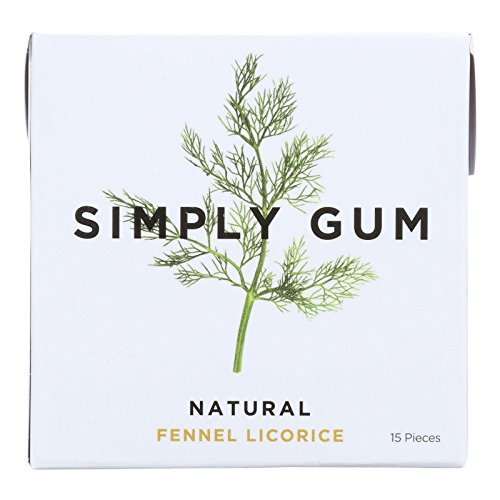 Simply Gum All Natural Gum - Fennel Licorice - Pack of 12 - 15 Count