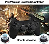 PS3 Controller, Wireless Bluetooth Gamepad Double