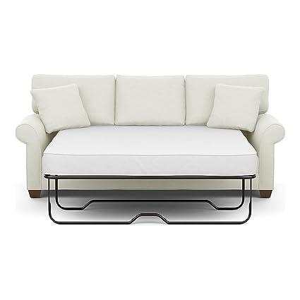 Ethan Allen Bennett Roll Arm Sofa 86 Sleeper Hailey Ivory