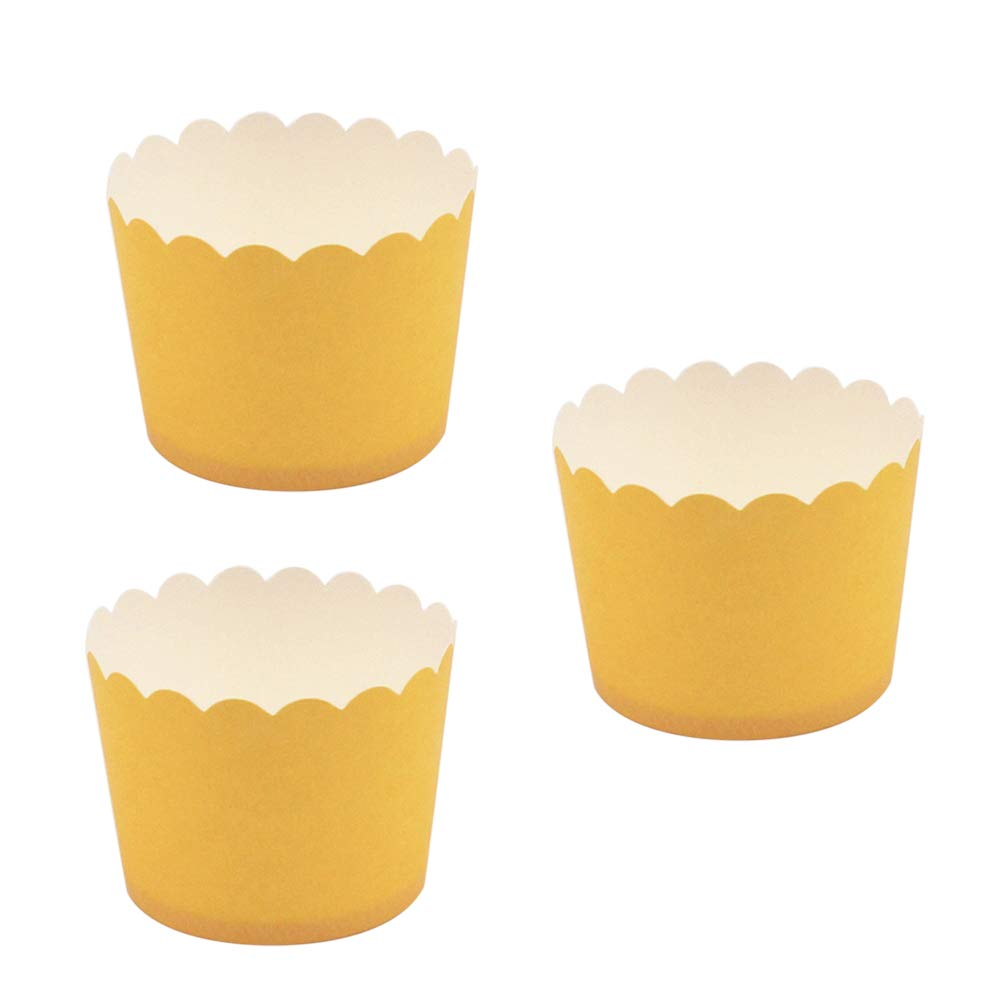 gelb BESTONZON 24pcs Cupcake Papier Backf/örmchen Muffin Wrapper Liner Kuchen F/ällen Schimmel