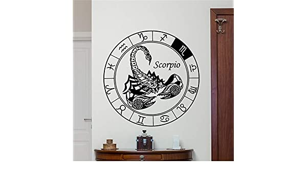 xinyouzhihi Escorpio Tatuajes de Pared Astrología Horóscopo ...