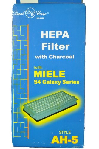 Miele Galaxy Series - Miele Canister Hepa Filter with charcoal, Dust Care Replacement Brand, designed to fit Miele S4 Galaxy Series Style AH-5