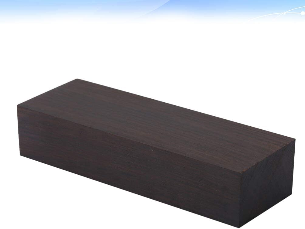 IMIKEYA Ebony Wood Block Black Ebony Wood Blank Lumber DIY Material for Music Instruments Handle