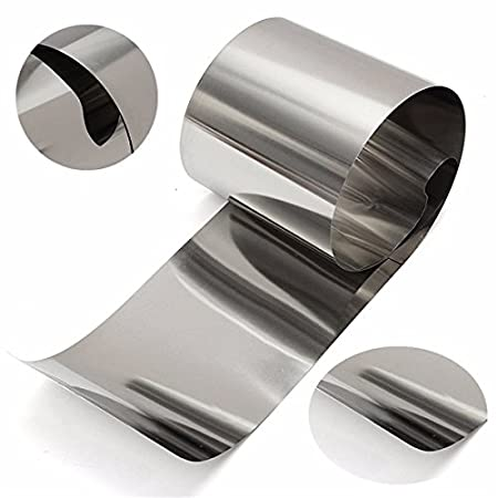 1 Piece 0.05mmx100mmx1m Stainless Steel Foil Sheet Foil Plate: Amazon.in:  Health & Personal Care