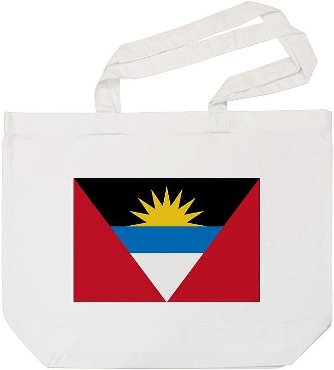 Bandera de Antigua y Barbuda Bolso de Compras Blanco (BG00011100): Amazon.es: Juguetes y juegos