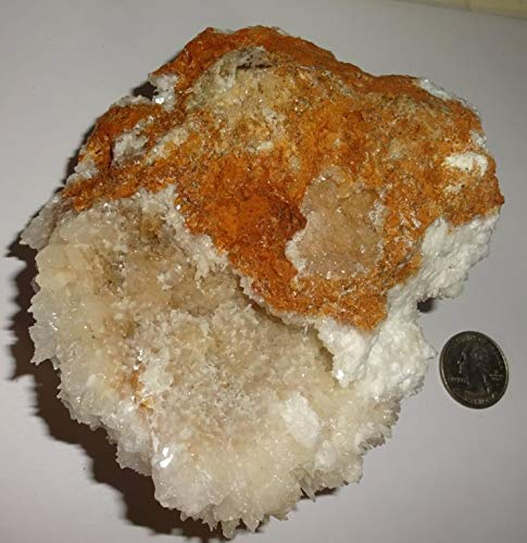 1pc #3 XL Rare Moroccan Cave Calcite with Aragonite - Free Formed Cluster Raw Natural Rough / Crystal Healing Gemstone Collectible Display Specimen Stone