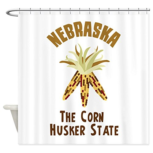 CafePress - NEBRASKA CORN HUSKER STATE Shower Curtain - Decorative Fabric Shower Curtain