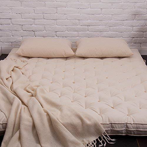 Wool Shikibuton / 4' Mattress/Custom Sizes & Fabrics Available