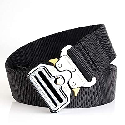 """Tactical Belt, 1.5"""" Heavy Duty Waist Belt, Quick-Release Military Style Nylon Webbing Riggers Belt with Metal Buckle"""