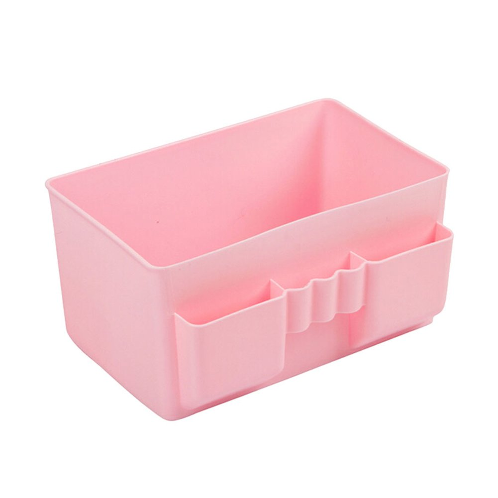 Cdet Desktop Aufbewahrungsbox Pink Stilvolle multi-grid Kunststoff Stifteköcher Office Home Supplies Kosmetik-Box
