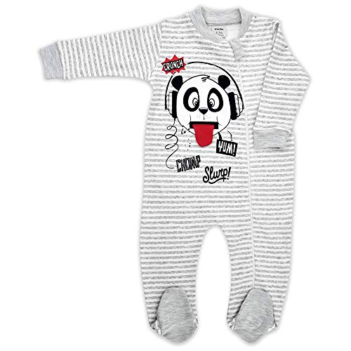 - Baby Sleeper Pajamas Zip Footed Boy and Girl Organic Cotton 0,3,6,9,12 Month (Grey, 6-9 Month)